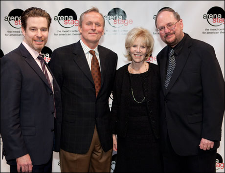 Director Ethan McSweeny, John Grisham, Daryl Roth and playwright Rupert Holmes