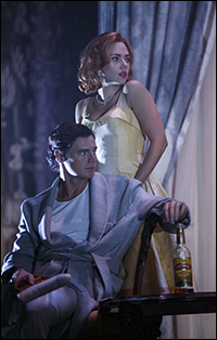 Benjamin Walker and Scarlett Johansson in <i>Cat On a Hot Tin Roof.</i>