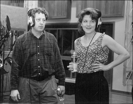 Bill Buell and Victoria Clark record the Titanic cast album
