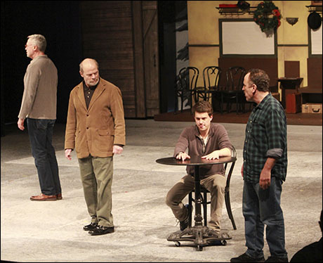 Tom Hewitt, William Parry, Jeremy Ellison-Gladstone and Adam Heller sharing the stage with White Christmas…