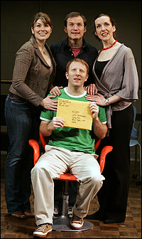 Heidi Blickenstaff, Jeff Bowen, Susan Blackwell and Hunter Bell (seated)