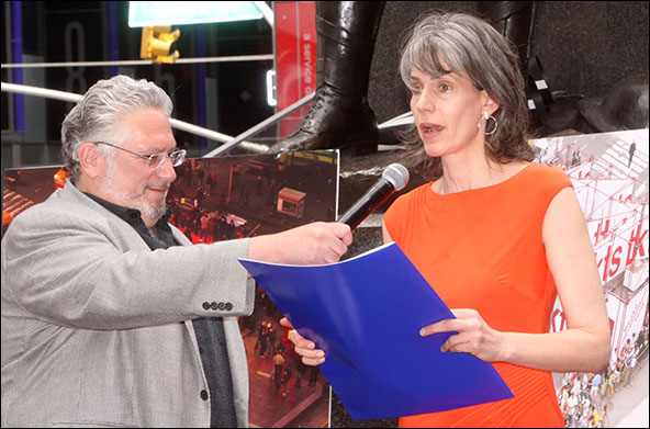 Harvey Fierstein and Kate Levin