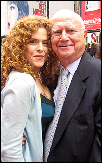 Bernadette Peters and Gerald Schoenfeld at the TKTS ceremony