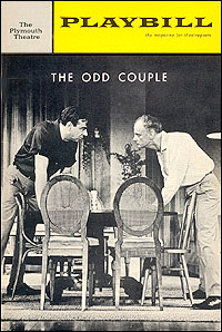 Playbill cover for <I>The Odd Couple</I> in 1965.