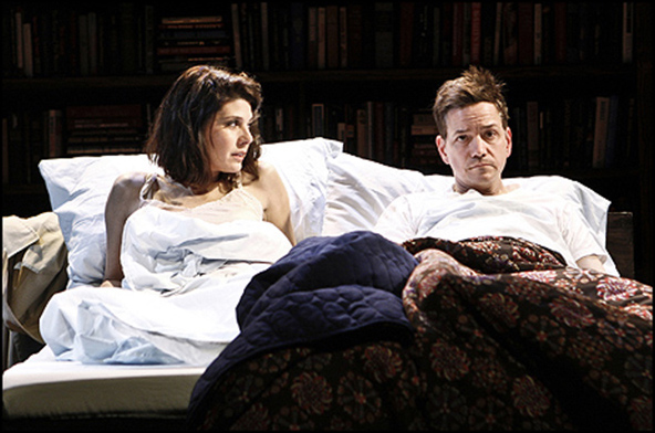 Marisa Tomei and Frank Whaley in the 2011 New Group production of Marie and Bruce