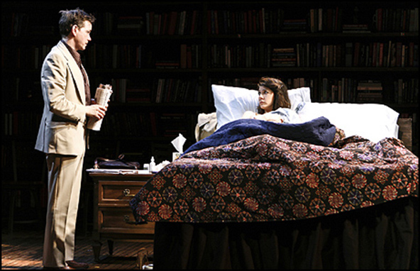 Frank Whaley and Marisa Tomei in the 2011 New Group production of Marie and Bruce