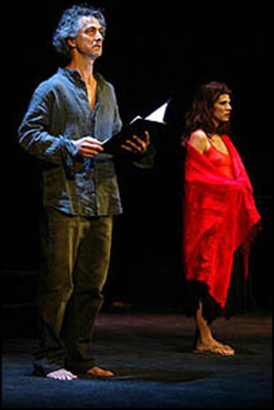 David Strathairn and Marisa Tomei in the 2003 Broadway staged reading of Salome