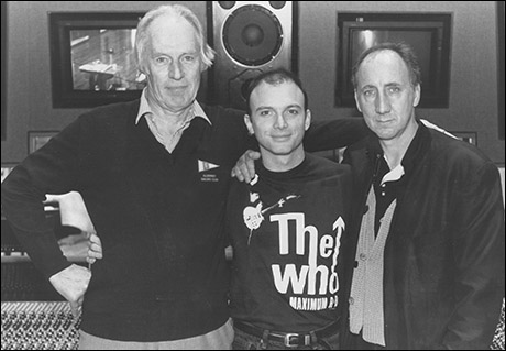 Goerge Martin, Michael Cerveris and Pete Townshend in the recording studio for The Who's Tommy