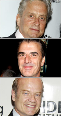 Michael Douglas, Kelsey Grammer and Chris Noth