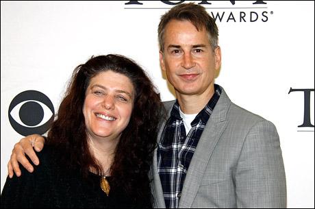 Next Fall director Sheryl Kaller and playwright Geoffrey Nauffts