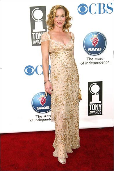 Christina Applegate wearing Valentino at the 2005 Tony Awards