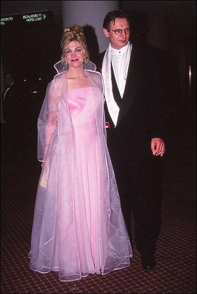 Natasha Richardson and Liam Neeson at the 1993 Tony Ball