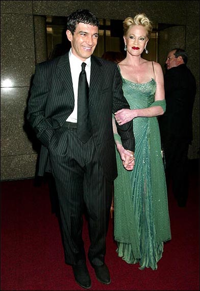 Antonio Banderas and Melanie Griffith at the 2003 Tony Awards