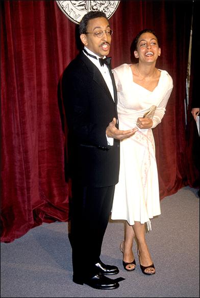 Gregory Hines and his daughter Daria Hines at the 1998 Tony Awards