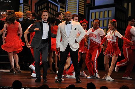 Harris and Mike Tyson at the 2013 Tony Awards