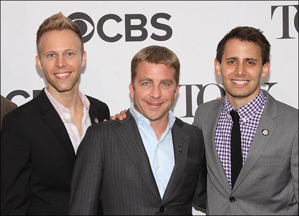 Justin Paul, Peter Billingsley and Benj Pasek
