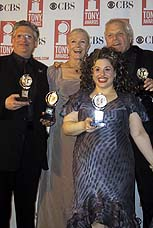 Tony winners Harvey Fierstein, Vanessa Redgrave, Marissa Jaret Winokur and Brian Dennehy.