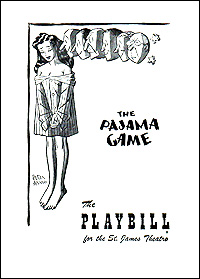 Playbill cover for <I>The Pajama Game</I> in 1954.