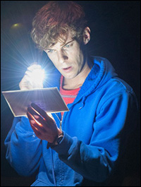 Luke Treadaway in <I>The Curious Incident...</I>
