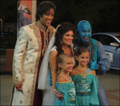 Meeting the little girls dressed up as Jasmine is always one of the best parts of the night!