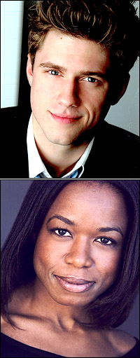 Aaron Tveit and Quincy Tyler Bernstine