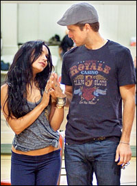 Vanessa Hudgens and Aaron Tveit