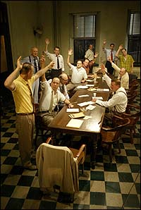 The final vote in <I>Twelve Angry Men</I>