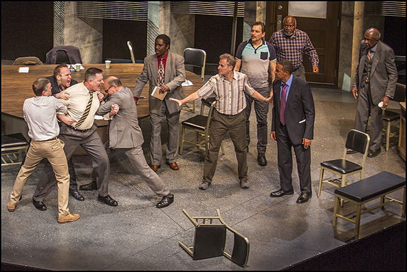 The cast of Twelve Angry Men  Robert Picardo, Gregory North and Jason George
