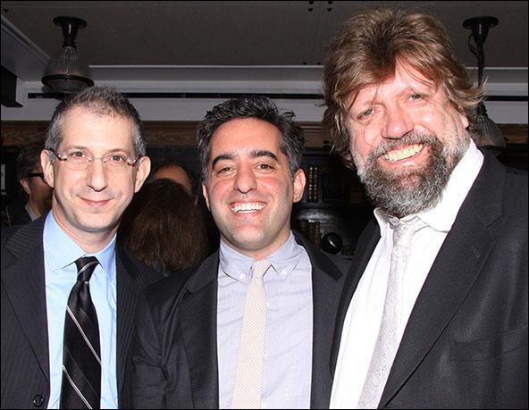 Barry Edelstein, Nathan Englander and Oskar Eustis