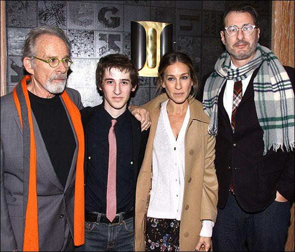 Ron Rifkin, Noah Robbins, Sarah Jessica Parker and Jon Robin Baitz