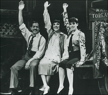 Jonathan Hadary, Tyne Daly and Crista Moore in the 1989 revival