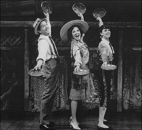Jonathan Hadary, Linda Lavin and Crista Moore in the 1989 revival