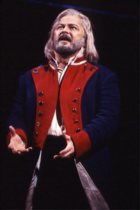Randal Keith as Jean Valjean in Broadway's <I>Les Mis