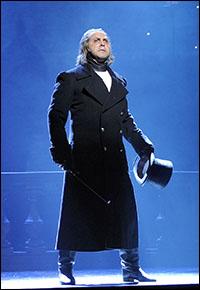 Andrew Varela as Javert on tour