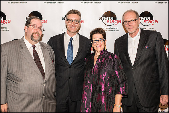 Larry Kaye of HOP Theatricals, LLC, playwright Eric Coble, Artistic Director Molly Smith and Executive Producer Edgar Dobie
