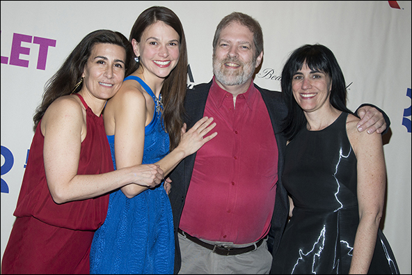 Jeanine Tesori, Sutton Foster, Brian Crawley and Leigh Silverman
