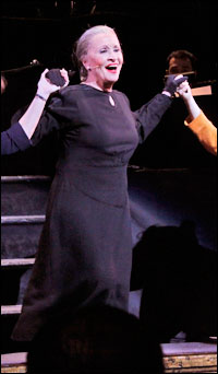 Chita Rivera at curtain call