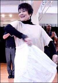 Chita Rivera in rehearsal