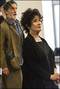 Roger Rees and Chita Rivera in rehearsal