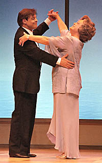Mark Hamill and Rue McClanahan in the Coconut Grove Playhouse production of <I>Six Dance Lessons in Six Weeks.</I>