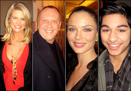 Christie Brinkley, Michael Kors, Georgina Chapman and Mark Indelicato