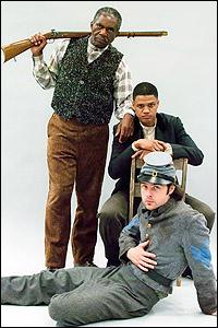 Charlie Robinson, Avery Glymph and Mark J. Sullivan
