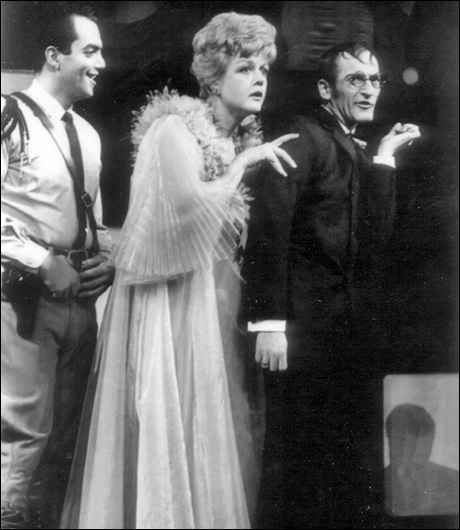 James Frawley, Angela Lansbury and Arnold Soboloff in Anyone Can Whistle, 1964