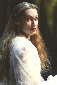 Angela Christian as the mysterious title character in <I>The Woman in White</I>.
