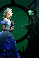 From Left: Kate Reinders and Ana Gasteyer in the Chicago production of <I>Wicked</I>.