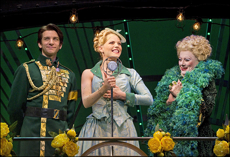 Andy Karl, Katie Rose Clark and Rondi Reed