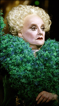 Carole Shelley reprises the role of Madame Morrible in <i>Wicked</i>.