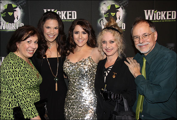 Winnie Holzman, LIndsay Mendez, Alli Mauzey, Carol Kane and Gregory Maguire