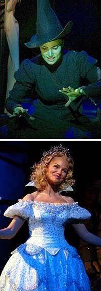 OCC <I>Wicked</I> nominees Idina Menzel and Kristin Chenoweth.