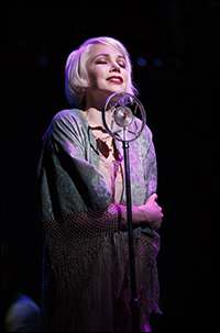 Michelle Williams in <i>Cabaret</i>.